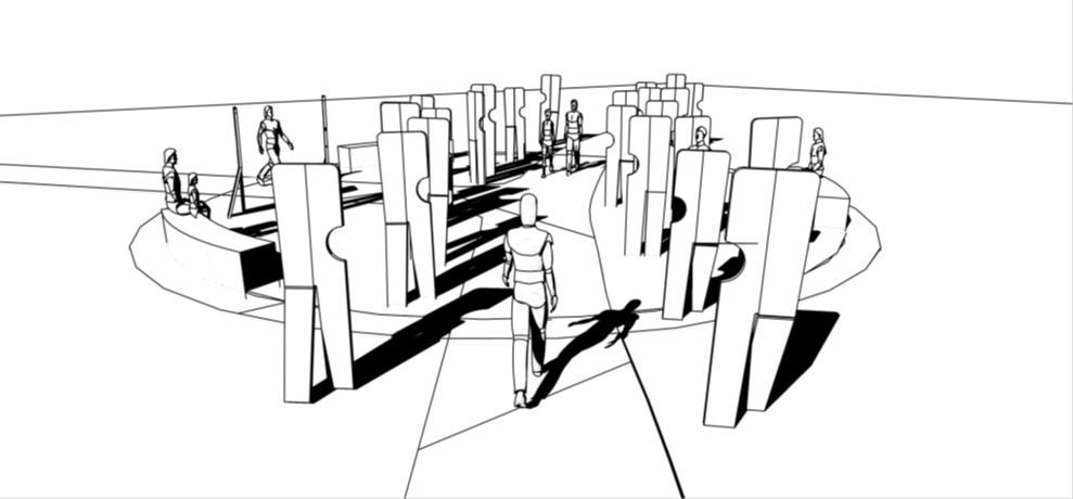 walking together sketch
